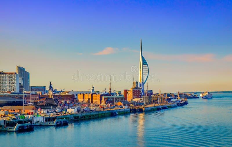 Puerto de Portsmouth imagen de archivo