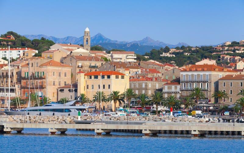 Puerto de Propriano, al sur de Córcega, Francia fotografía de archivo libre de regalías