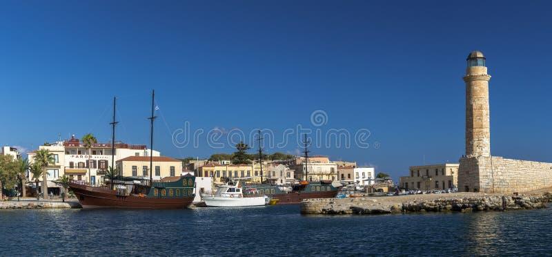 Puerto de Rethymno, Creta imagen de archivo libre de regalías