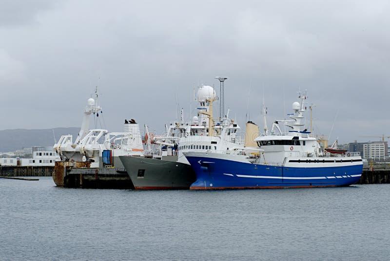 Puerto de Reykjavik fotografía de archivo libre de regalías
