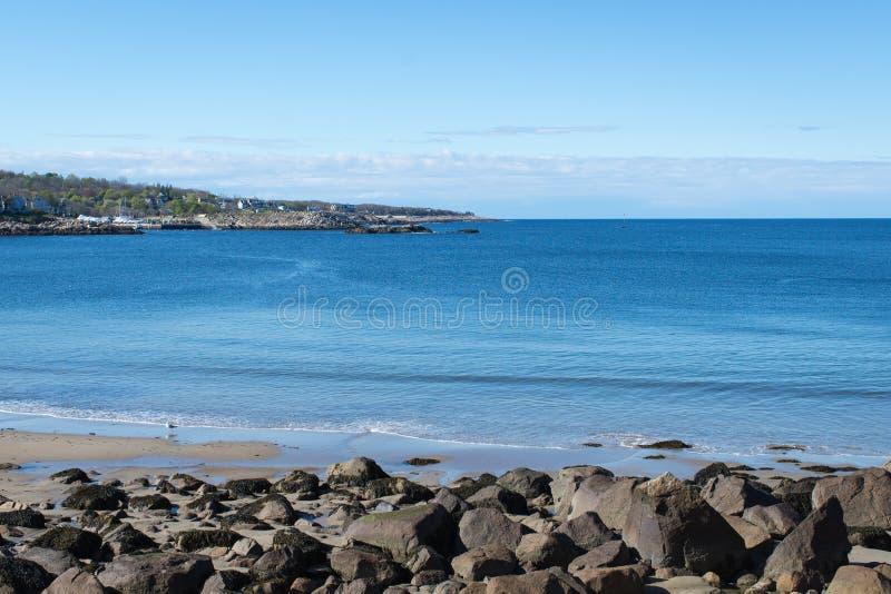 Puerto de Rockport con el cielo azul y limpio fotografía de archivo libre de regalías