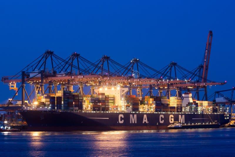 Puerto de Rotterdam fotografía de archivo