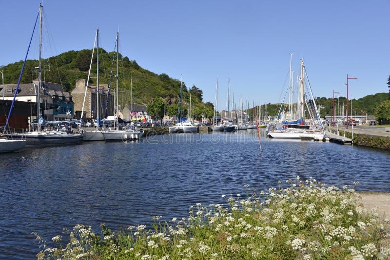 Puerto de Saint Brieuc en Francia fotografía de archivo libre de regalías