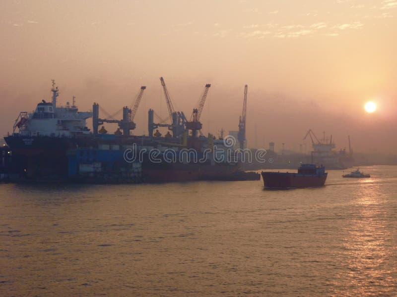 puerto de Shanghai fotos de archivo