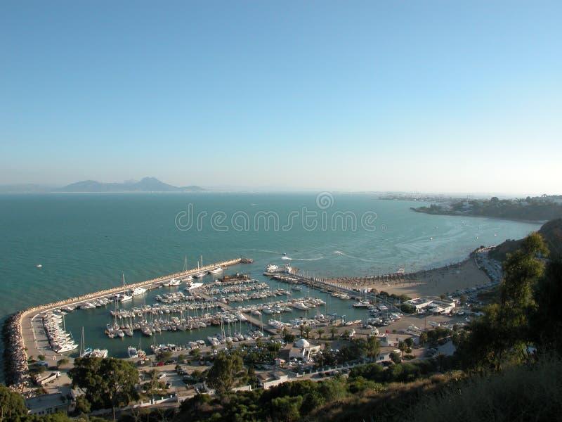 Puerto de Sidi Bou Said foto de archivo libre de regalías