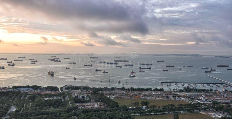 Puerto de Singapur fotografía de archivo libre de regalías