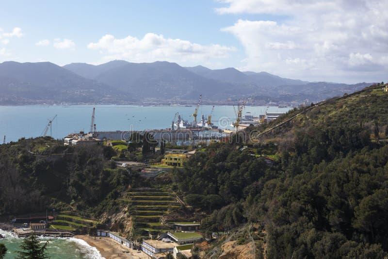 Puerto de Spezia del La fotografía de archivo libre de regalías