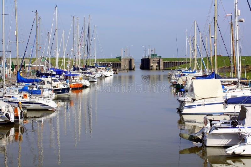 Puerto de Termunterzijl netherlands foto de archivo