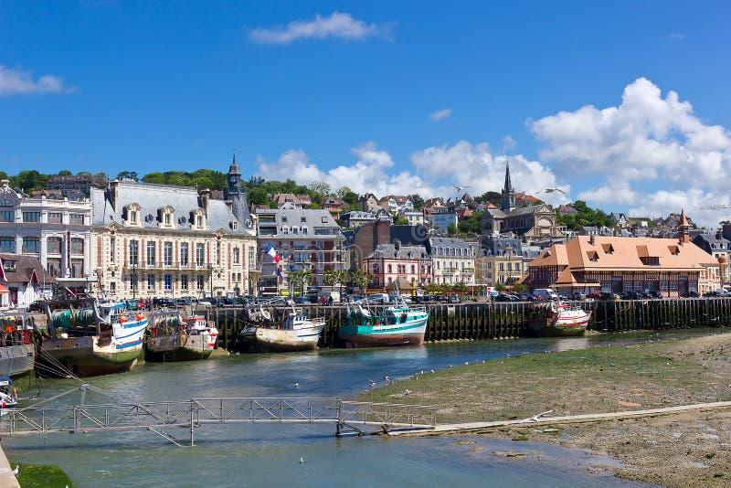 Puerto de Trouville, Normandía fotos de archivo libres de regalías