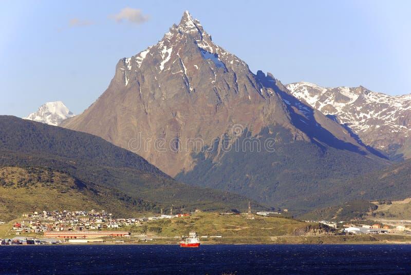 Puerto de Ushuaia imágenes de archivo libres de regalías