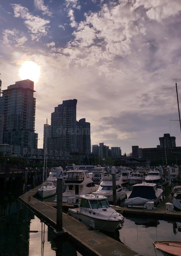 Puerto de Vancouver imagen de archivo