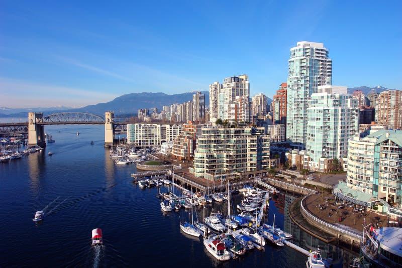 Puerto de Vancouver foto de archivo
