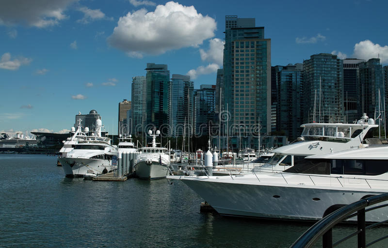 Puerto de Vancouver A.C. Canadá imagen de archivo