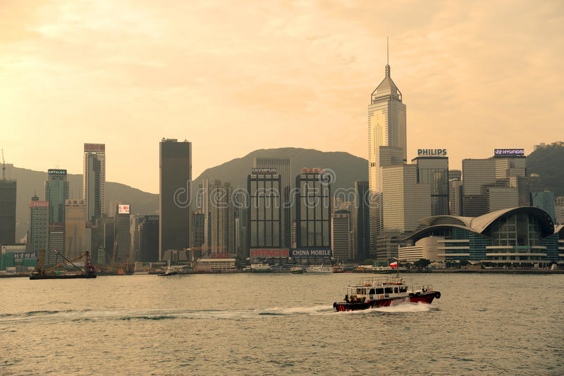 Puerto de Victoria de Hong-Kong fotos de archivo