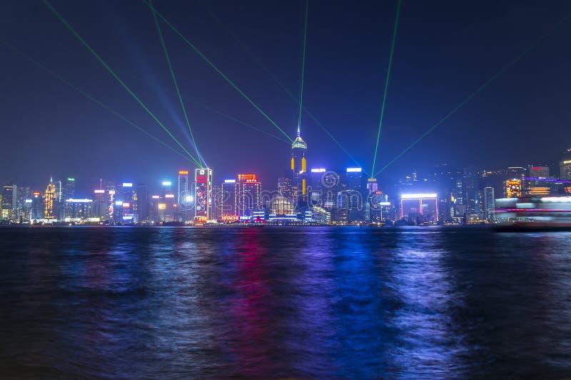 Puerto de Victoria en Hong Kong imagen de archivo libre de regalías