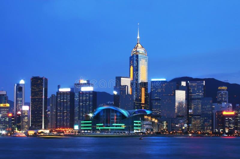 Puerto de Victoria, Hong-Kong fotos de archivo