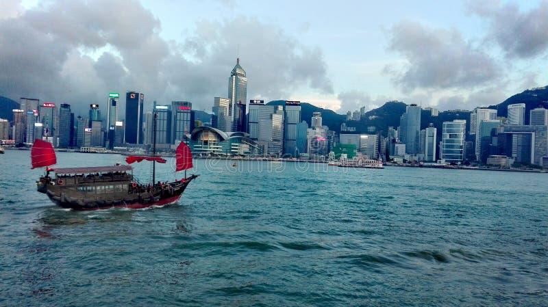 Puerto de Victoria, Hong-Kong imágenes de archivo libres de regalías