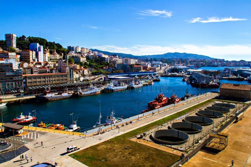 Puerto de Vigo fotos de archivo libres de regalías