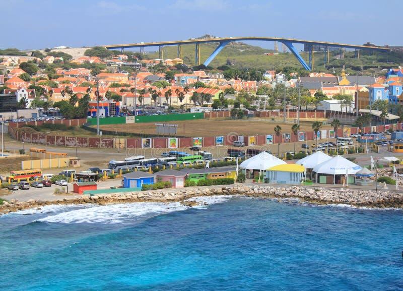 Puerto de Willemstad en Curaçao foto de archivo libre de regalías