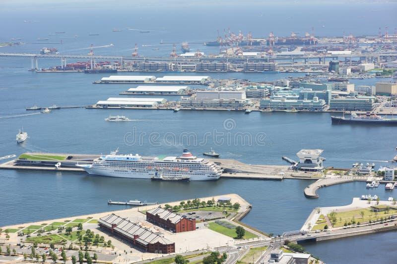 Puerto de Yokohama fotografía de archivo libre de regalías