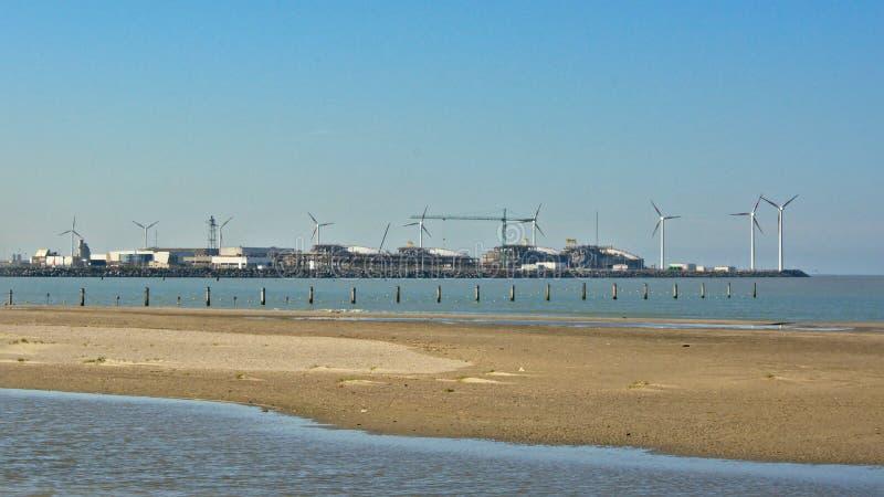 Puerto de zeebrugge fotografía de archivo libre de regalías