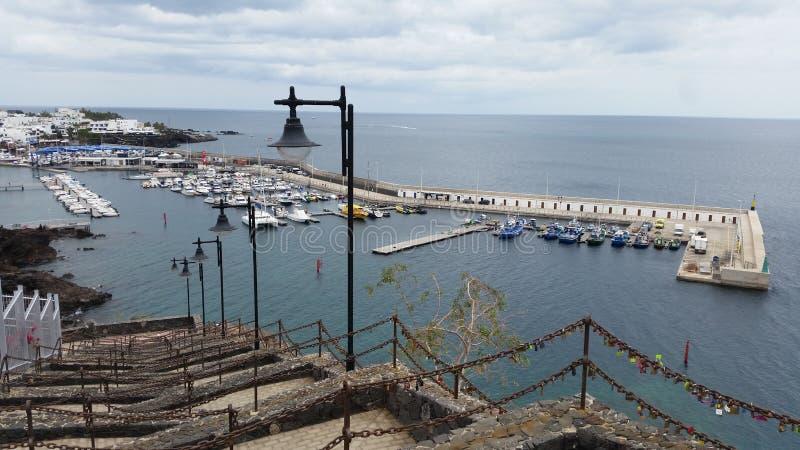 Puerto del卡门老镇港口 库存图片