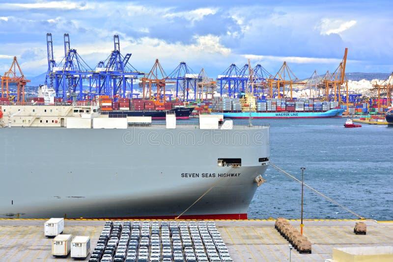 Puerto del anuncio publicitario de Pireo fotografía de archivo libre de regalías