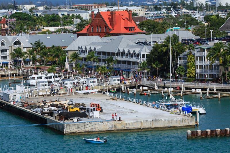 Puerto del barco de cruceros en Key West fotografía de archivo