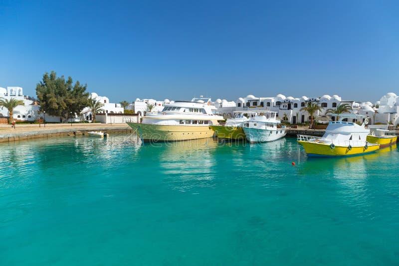 Puerto del barco en Hurghada fotografía de archivo