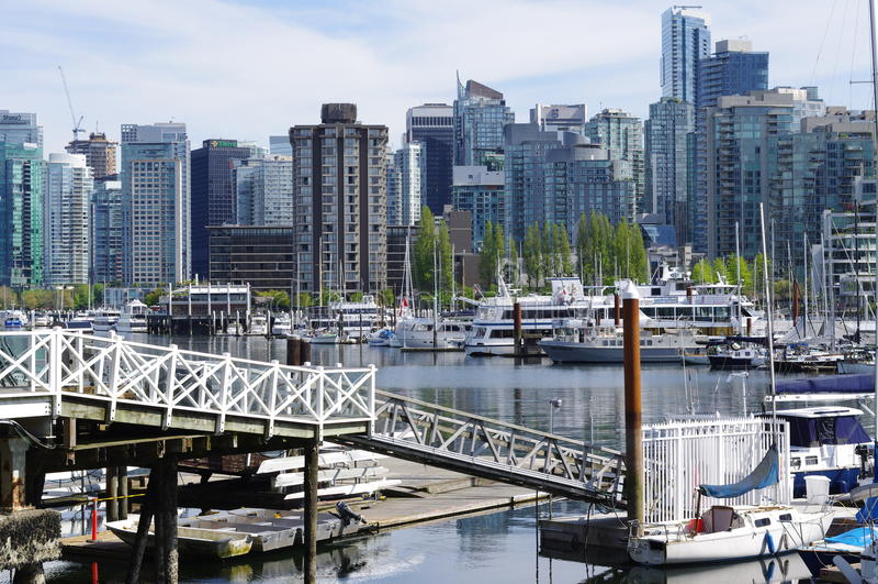 Puerto del carbón en Vancouver foto de archivo