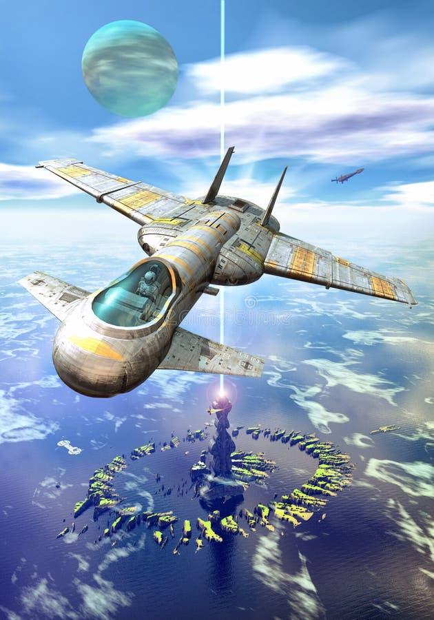 Puerto del espacio del mar libre illustration