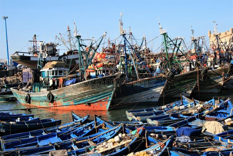 Puerto del estuario en Essaouira fotos de archivo