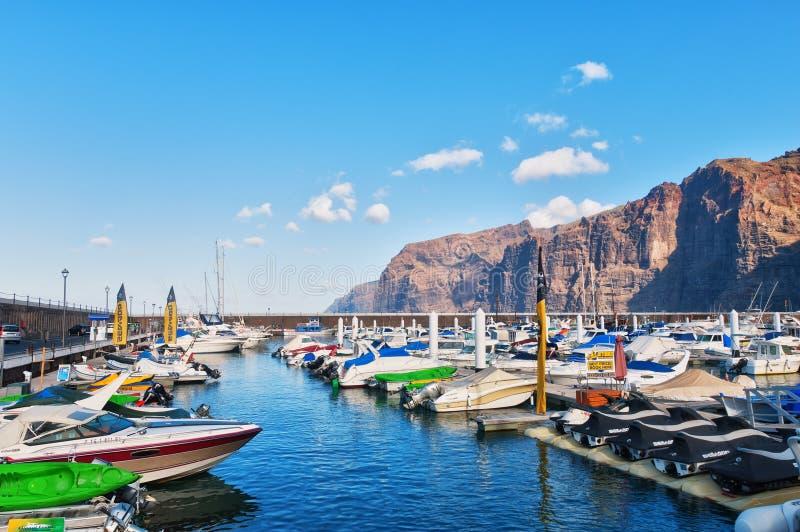 Puerto del Los Gigantes fotos de archivo