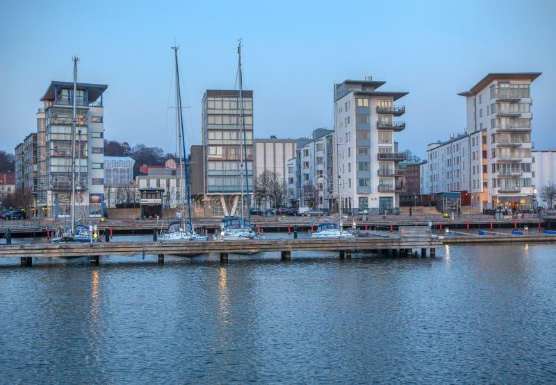 Puerto del norte en Helsingborg fotos de archivo libres de regalías