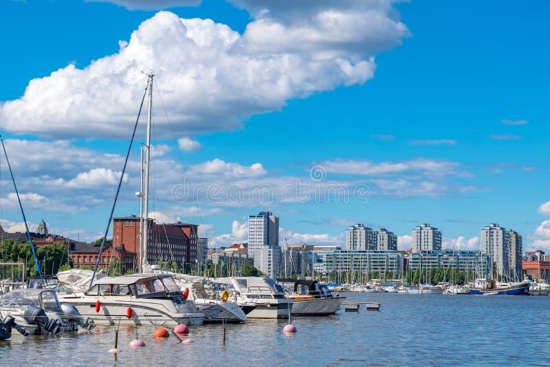 Puerto del norte Helsinki, Finlandia fotos de archivo libres de regalías