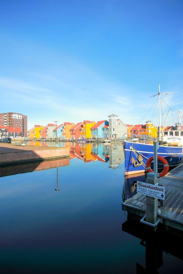 Puerto del puerto deportivo de Reitdiephaven fotografía de archivo libre de regalías