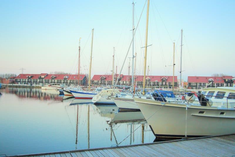Puerto del puerto deportivo de Reitdiephaven fotografía de archivo