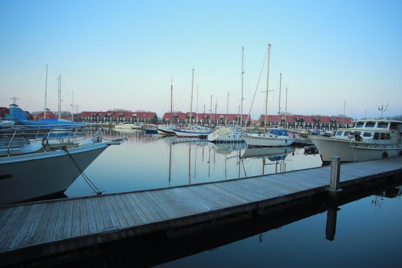 Puerto del puerto deportivo de Reitdiephaven imagen de archivo libre de regalías