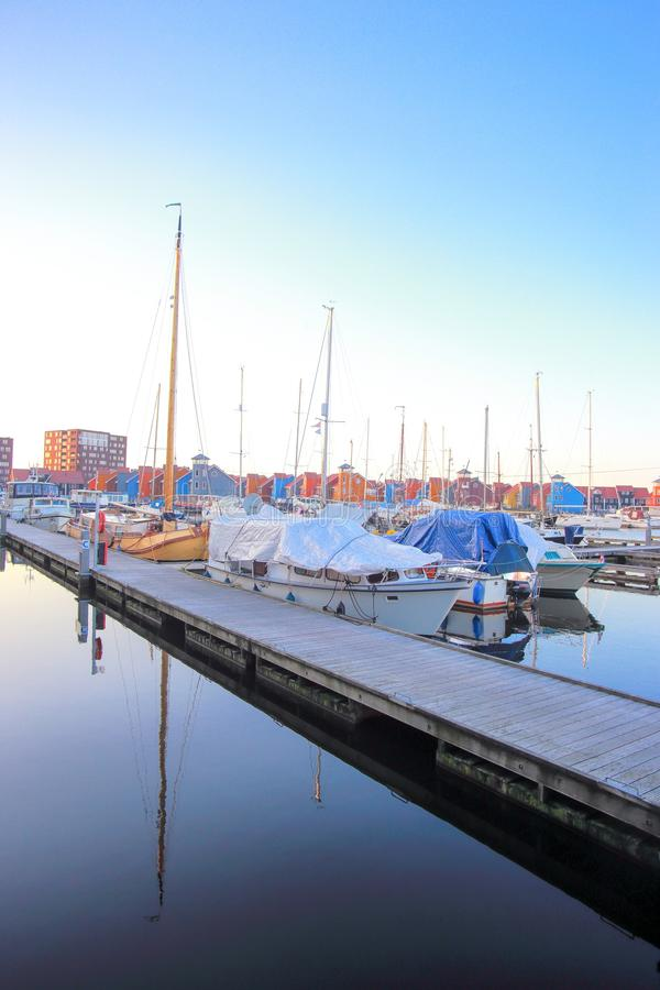 Puerto del puerto deportivo de Reitdiephaven imágenes de archivo libres de regalías
