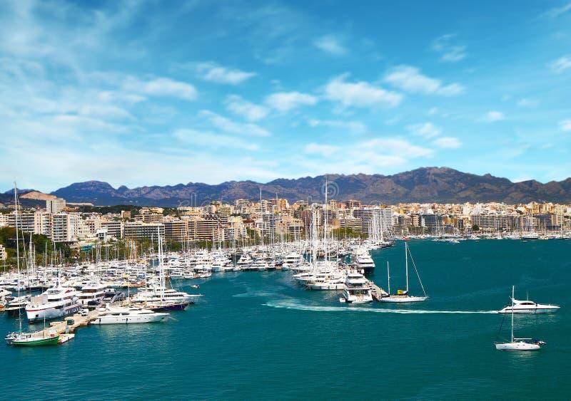 Puerto del puerto deportivo en Palma de Mallorca en Balearic Island España imagen de archivo
