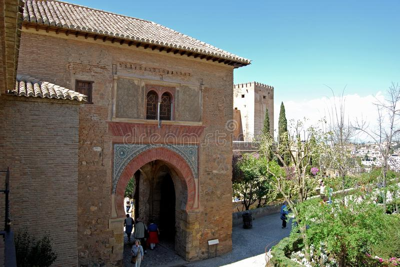 Puerto del Vino, Alhambra Palace. royalty free stock photography