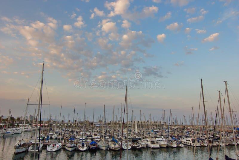Puerto del yate de Barcelona fotografía de archivo