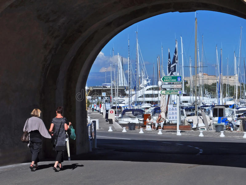 Puerto deportivo de Antibes, d'Azur del corral, Francia imágenes de archivo libres de regalías
