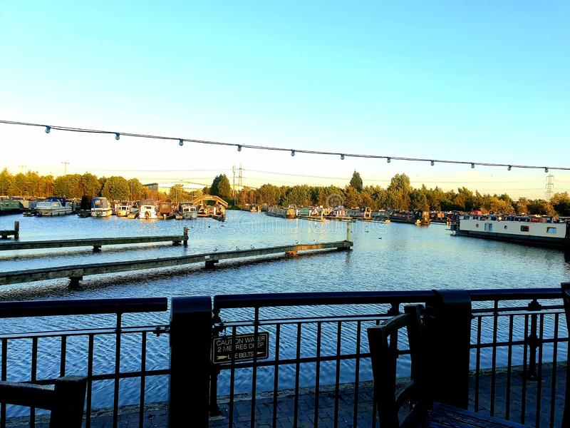Puerto deportivo de Barton foto de archivo libre de regalías