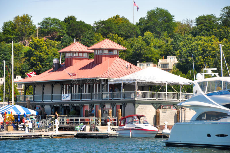 Puerto deportivo de Burlington, Vermont imágenes de archivo libres de regalías