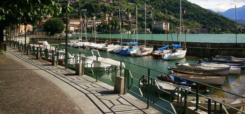 Puerto deportivo de Como del lago foto de archivo libre de regalías