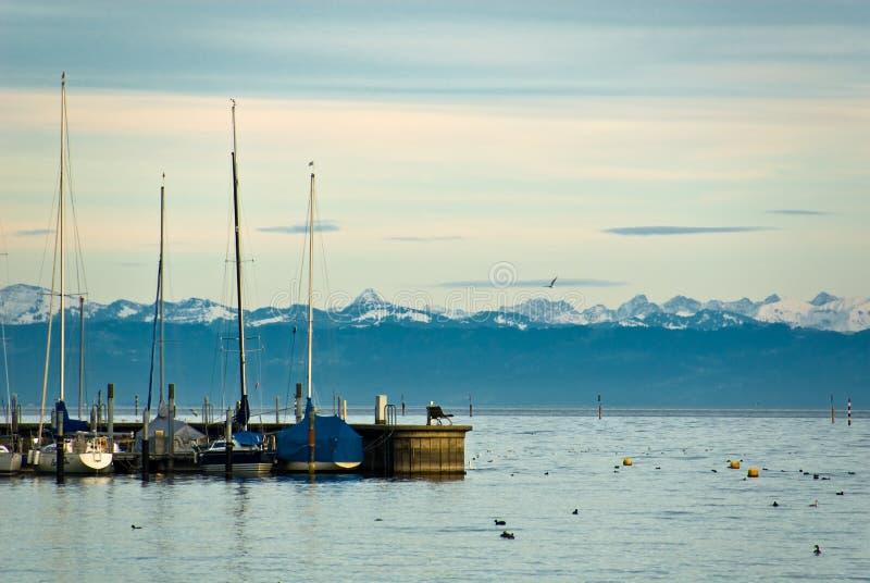 Puerto deportivo de Constance del lago foto de archivo