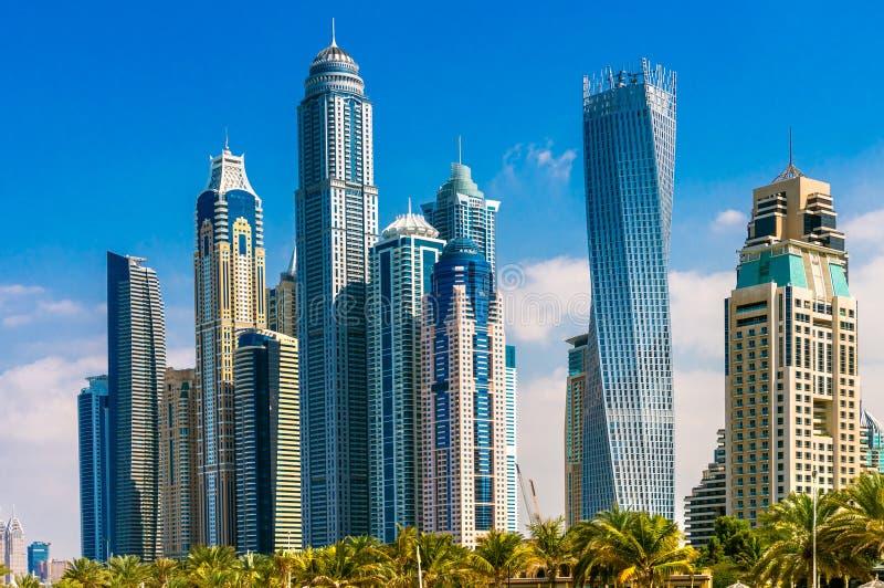Puerto deportivo de Dubai, UAE imagen de archivo