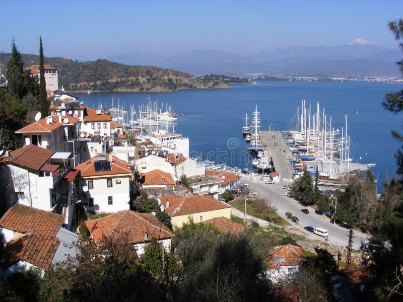 Puerto deportivo de Fethiye, Turquía fotos de archivo libres de regalías