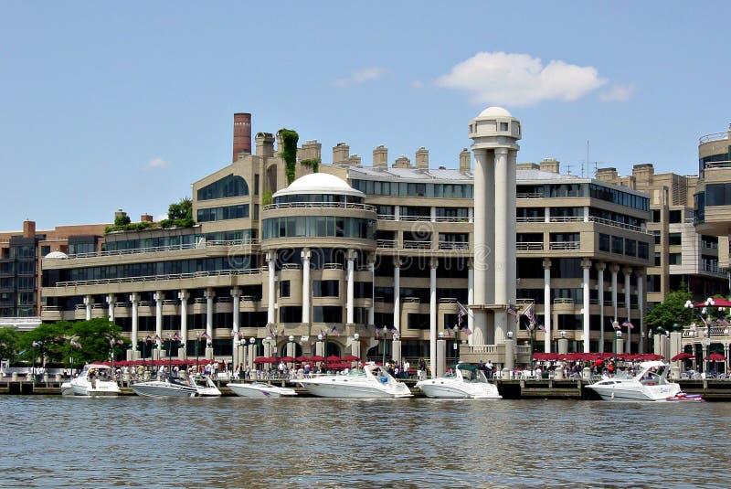 Puerto deportivo de Georgetown foto de archivo libre de regalías